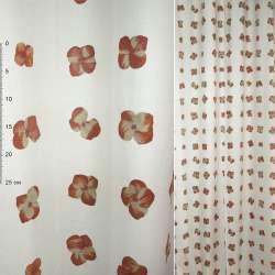 ткань порт Деваре белая с терак-желт. цвет.ш.150