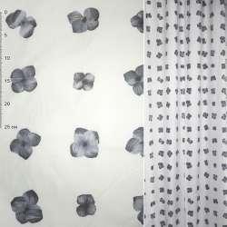 ткань порт.Деваре белая с сиреневыми цветами ш 150