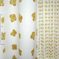 ткань порт.Деваре белая с желтыми цветами ш.150