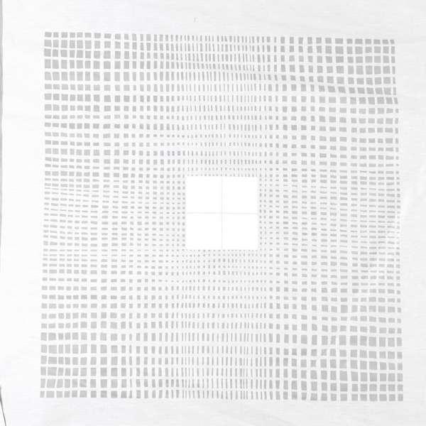 Деворе портьєрне біле з дрібними прозорими прямокутниками і білими квадратами ш.140