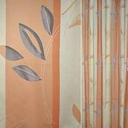 Деворе для штор листя смуги оранжево-бежеві, ш.290