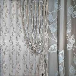 Жаккард серебристо-серый в лианы Fuggerhaus ш.280