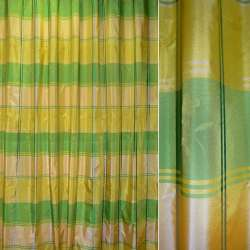 Шелк желтые,салатные квадраты ш.280