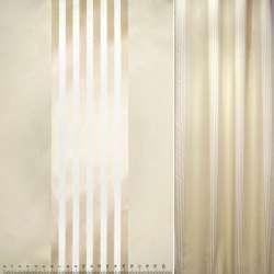Жаккард атласный бежевый в полосы ш.147