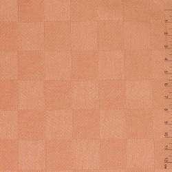 "ткань скатерная терракотово-розовая ""шахматка"", ш.140"