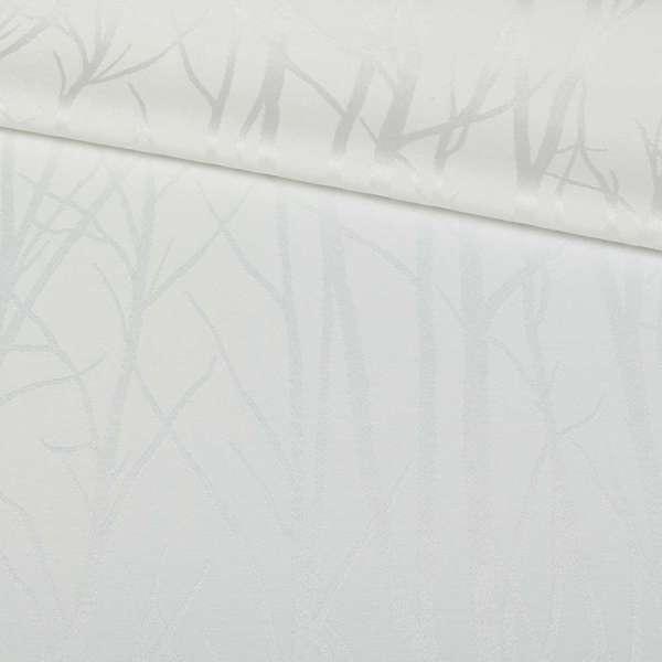 Жаккард сатин белый ветки, ш.140