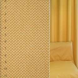 Жаккард золотисто-жовтий зигзаг ш.142