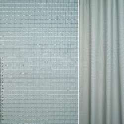 Жаккард серо голубой в полосы и узор ш.127