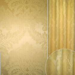 Жаккард золотистый с вензелями ш.140