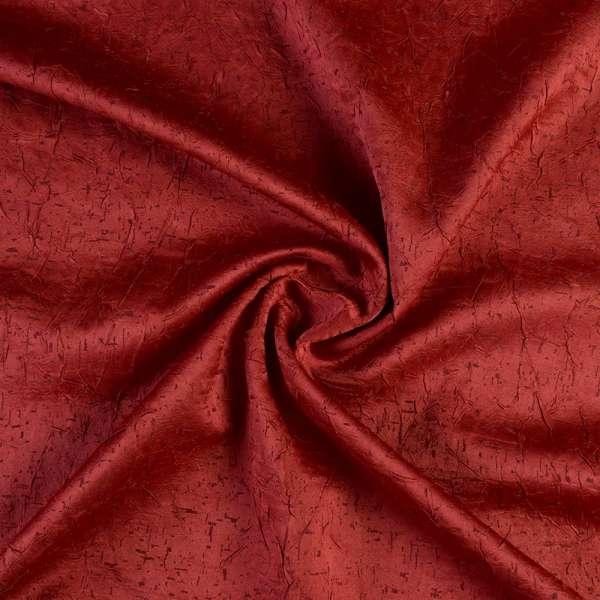 Атлас жаккардовый креш бордовый, ш.138