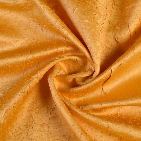 Атлас жаккардовый креш желтый, ш.140