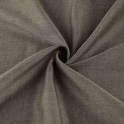 Льон полегшений для штор коричневий з обважнювачем, ш.300