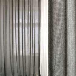 Меланж портьєрний сірий світлий ш.300