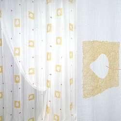Муслін білий з желтимм квадратами, ш.280