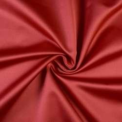 Сатин портьерный красный темный, ш.150