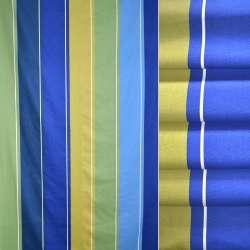 Сатин портьерный в синие,зеленые,желтые полосы ш.140