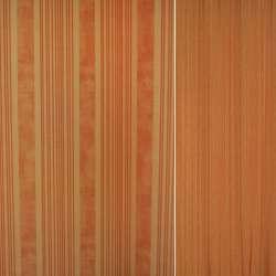 Сатин оранжевые,терракотовые в полосы ш.150