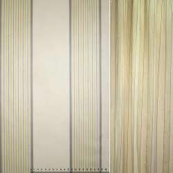 Коттон жакардовий бежевий з жовто-сірими смужками ш.145
