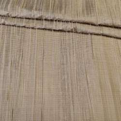 Тафта портьерна жата бежево-коричнева, ш.140