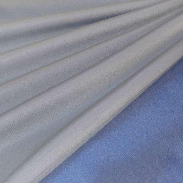 ДЕКО тафта серебристо-синяя Германия ш.140
