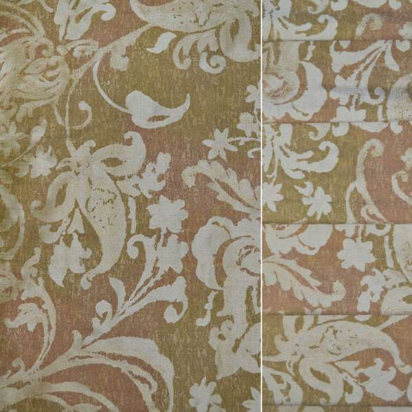 Тафта золотая в растительный узор ш.140