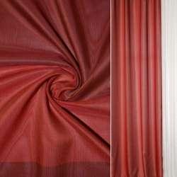 Шелк прозрачный в бордово-красные квадраты Германия ш.145