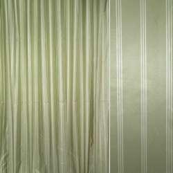 Шовк штучний зелений в молочні смуги ш.330