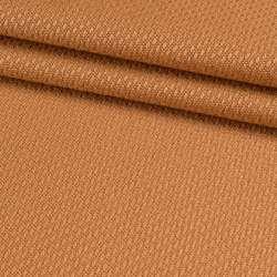 Рогожка віскозна інтер'єрна оранжево-теракотова ш.140