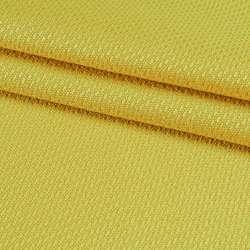 Рогожка віскозна інтер'єрна жовта ш.140
