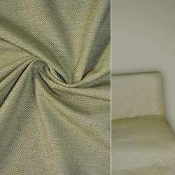Рогожка бежево зелена ш.150