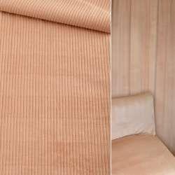 Велюр вельвет вискозный мебельный бежевый  ш.140