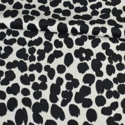 Велюр вискозный мебельный черно белый леопард