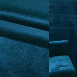 Велюр вискозный мебельный синий ш.140