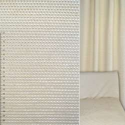 Велюр жакардовий світло бежевий в дрібні квадрати ш.140
