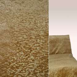 Велюр на шенілла золотисто-мідний в корали ш.138