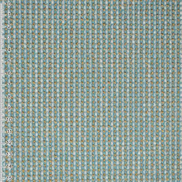 Шенилл бирюзовый с золотой строчкой на пвх основе ш.138