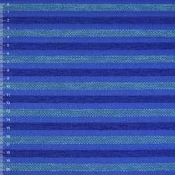 Шенилл синий в сине-бирюзовую рельефную полосу на ПВХ основе ш.138