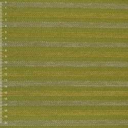 Шенилл зеленый в бежево-желтую рельефную полосу на ПВХ основе ш.138