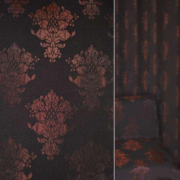 Фукріт бордово-чорна з вензелями ш.140