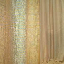 Жаккард перламутровый в зелено оранжево желтые полосы, ш.150
