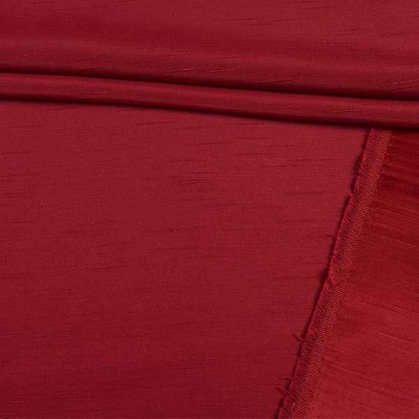 Ультра портьерная бордовая в структурные штрихи, ш.150