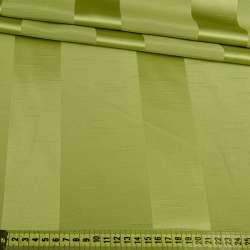 Ультра портьєрна зелена широка смужка в структурні штрихи, ш.150