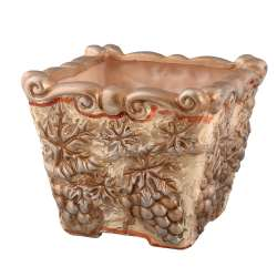 вазон для квітів квадр. бронзовий з виноградом арт.3308