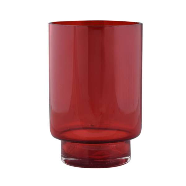 ваза рубин с зауженным дном,19см
