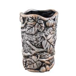 Кашпо в античном стиле керамика Виноградная лоза 19х12х12см вн. 17х10х10см под бронзу