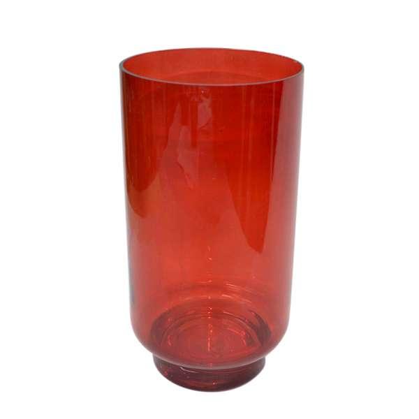 ваза стекл.рубин с зауженным дном, 25 см