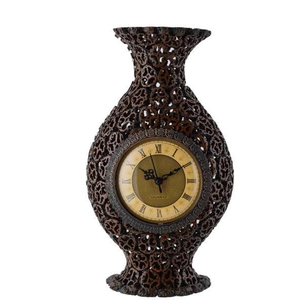ваза-часы настенные под ореховый срез