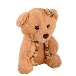 м'яка іграшка Мишка рудий з шарфиком, 22 см