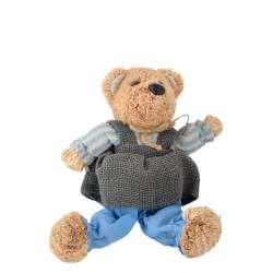 Інтер'єрна іграшка ведмедик солом'яний 28 см 17х18х13 см