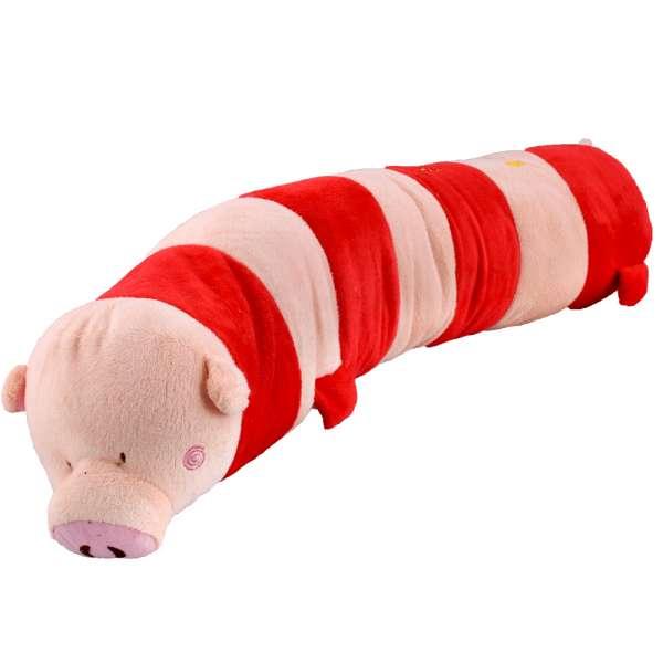 подушка Свинка красно-розовая